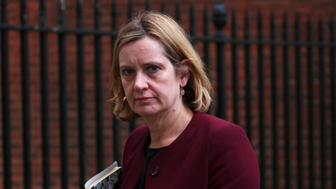 Britain's Home Secretary Amber Rudd leaves 10 Downing Street in London, April 10, 2018. REUTERS/Hannah Mckay