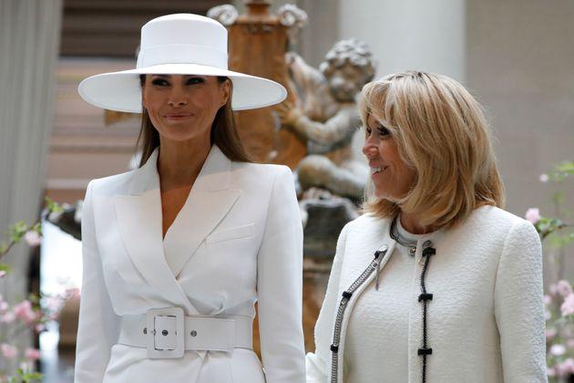 '프랑스 영부인' 브리지트 여사가 멜라니아 트럼프는 백악관에서 창문도 못 연다고