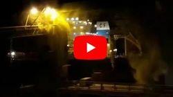 Βίντεο: Πλοίο «καρφώνεται» σε αποβάθρα σε λιμάνι της