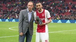 Hakim Ziyech élu joueur de l'année à