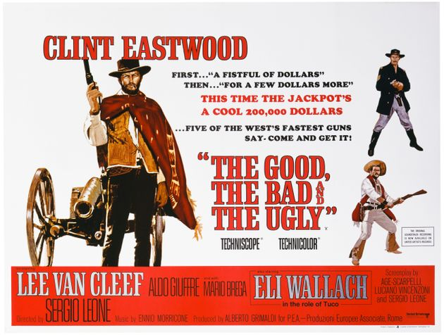 A poster for Sergio Leone's 1966 western The Good, the Bad and the