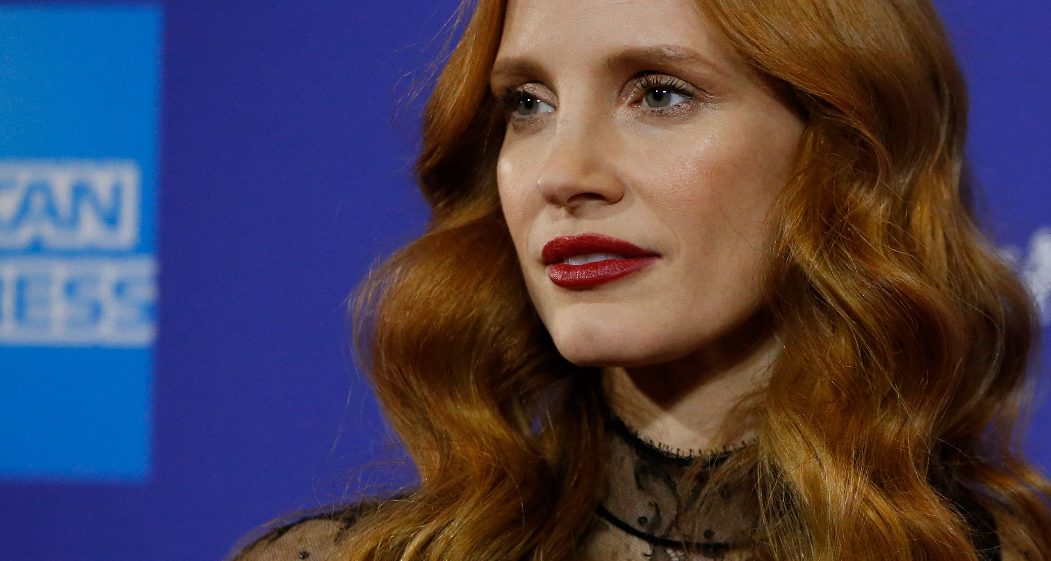 Actor Jessica Chastain poses at the 29th Annual Palm Springs International Film Festival Awards Gala in Palm Springs, California, U.S., January 2, 2018. REUTERS/Mario Anzuoni