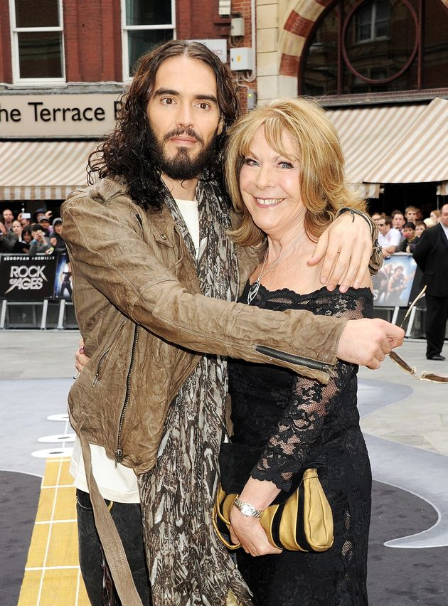 Russell Brand and his mum, Barbara, at the 'Rock Of Ages' premiere in