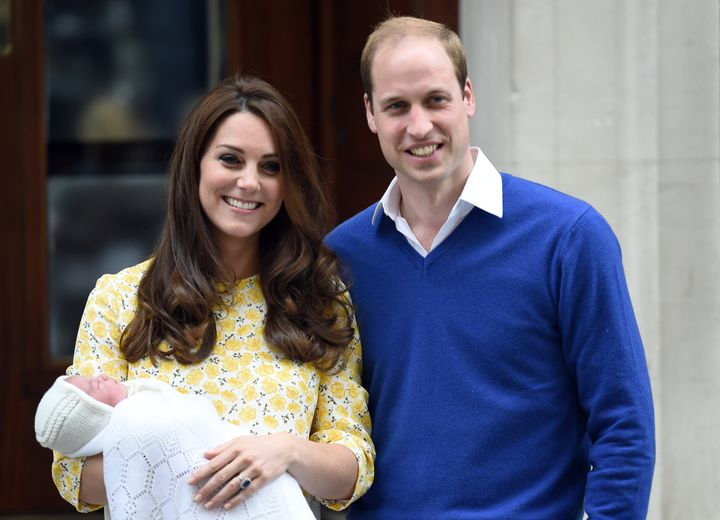 Princess Charlotte on the day she was born.
