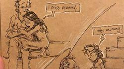 Αυτός ο σκιτσογράφος ζωγραφίζει τη ζωή με δύο παιδιά, μετά το θάνατο της συζύγου
