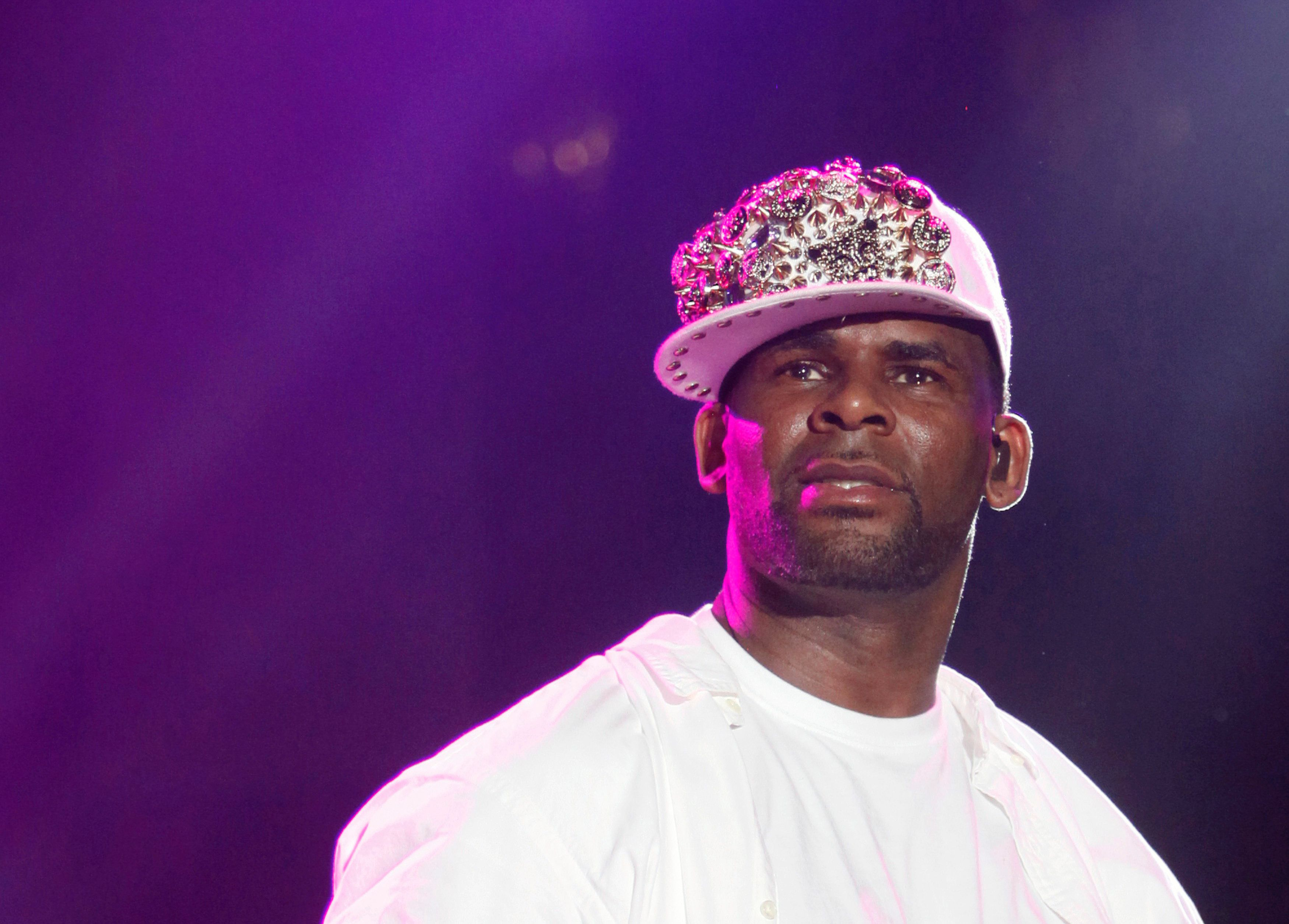 Singer R. Kelly performs are the St. Lucia Jazz and Arts Festival on May 12, 2013.