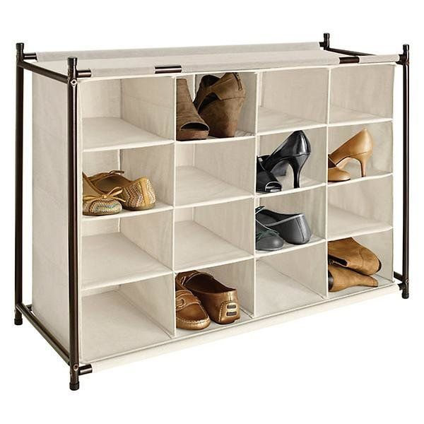 """This <a href=""""https://www.containerstore.com/s/closet/shoe-storage/view-all-shoe-storage/16-section-shoe-cubby/123d?productId"""
