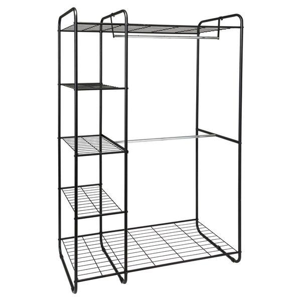 "Get it at <a href=""https://www.target.com/p/freestanding-closet-black-silver-room-essentials-153/-/A-51834608"" target=""_blank"