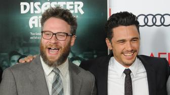 HOLLYWOOD, CA - NOVEMBER 12:  (L-R) Actor Seth Rogen and director/actor James Franco attend AFI FEST 2017 presented by Audi xcreening of 'The Disaster Artist' at TCL Chinese Theatre on November 12, 2017 in Hollywood, California.  (Photo by Barry King/Getty Images)