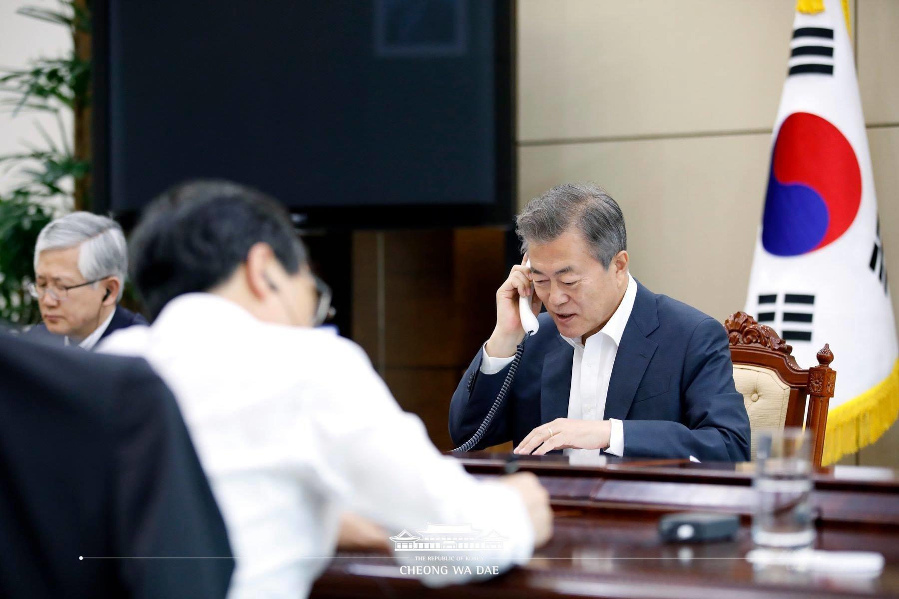 문대통령이 '북한 핵실험장 폐쇄에 유엔도 참관해달라'고