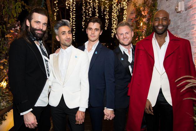 Queer Eye's Fab 5: Jonathan Van Ness, Tan France, Antoni Porowski, Bobby Berk, and Karamo