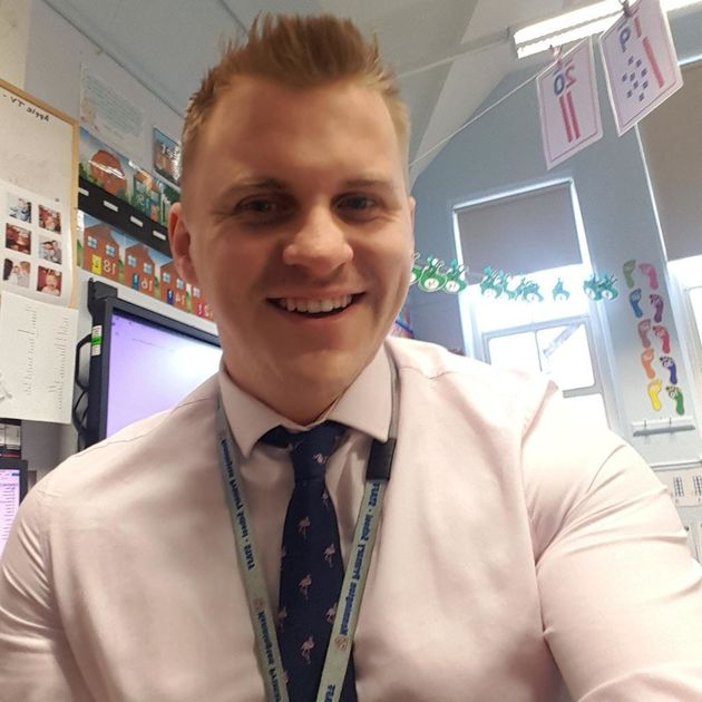 Gavin Goulds is one of three male primary teachers at his