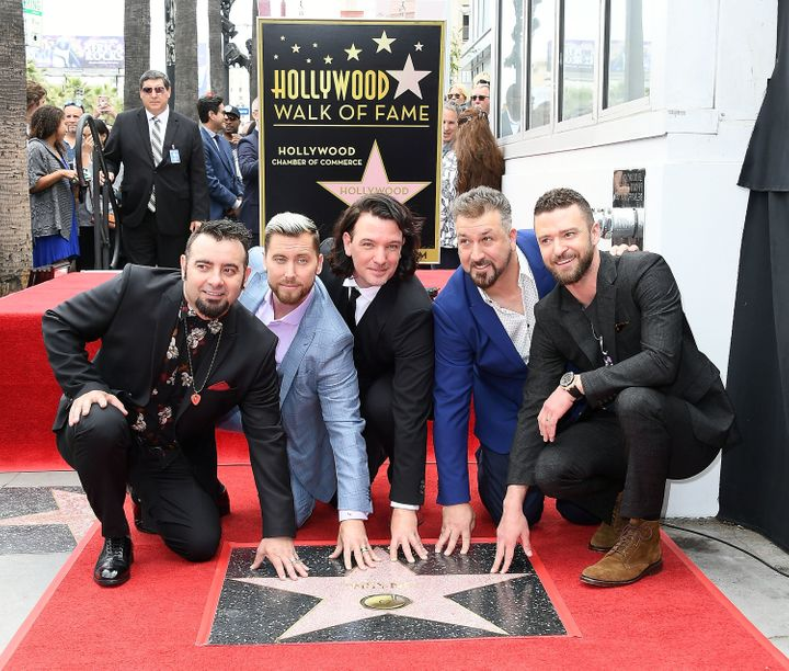 *NSYNC was honored with its own star on the Hollywood Walk of Fame on Monday.