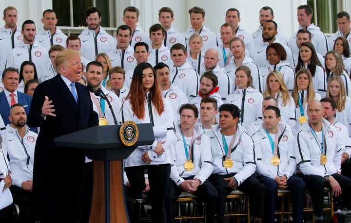 During his address to members of the 2018 U.S. Olympic and Paralympic teams, President Donald Trump said the Paraly
