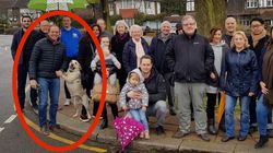 Outrage As Ex-Tory MP And His Floating Dog 'Are Photoshopped In To Road Junction