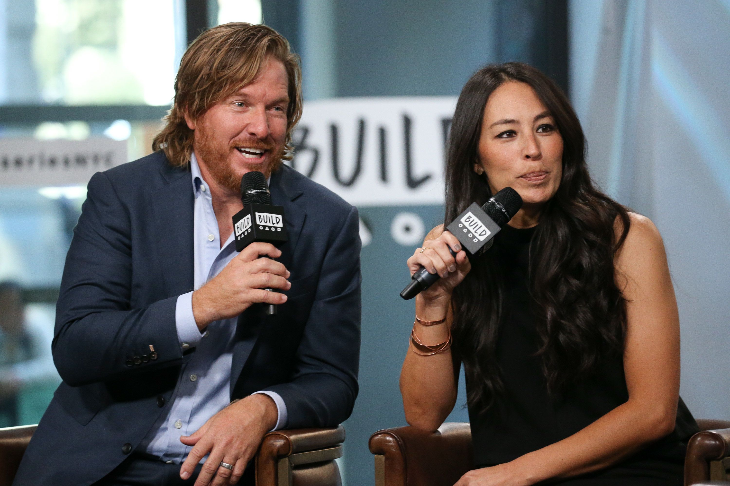 NEW YORK, NY - OCTOBER 18:  Chip Gaines and Joanna Gaines discuss new book, 'Capital Gaines: Smart Things I Learned Doing Stupid Stuff' at Build Studio on October 18, 2017 in New York City.  (Photo by Rob Kim/Getty Images)