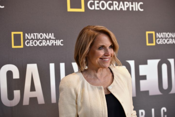 "Katie Couric at the premiere for her National Geographic series, ""America Inside Out."""