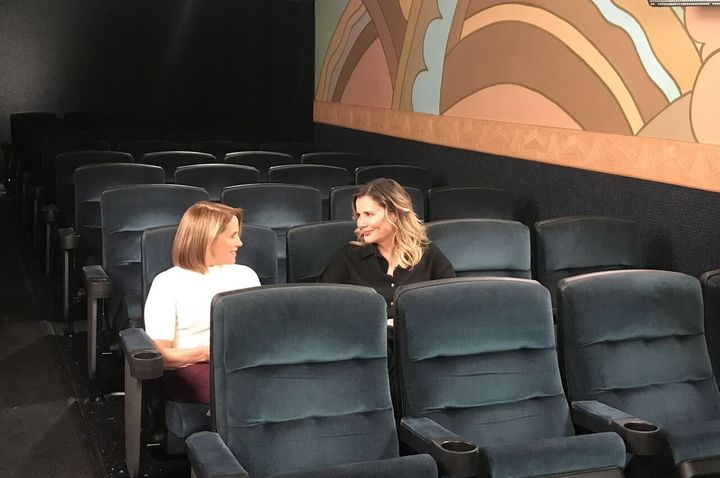 "Katie Couric and Geena Davis on ""America Inside Out."""