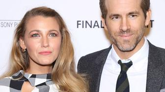 NEW YORK, NY - MARCH 22:  Blake Lively and Ryan Reynolds attend the 'Final Portrait' New York Screening at Guggenheim Museum on March 22, 2018 in New York City.  (Photo by Manny Carabel/FilmMagic)