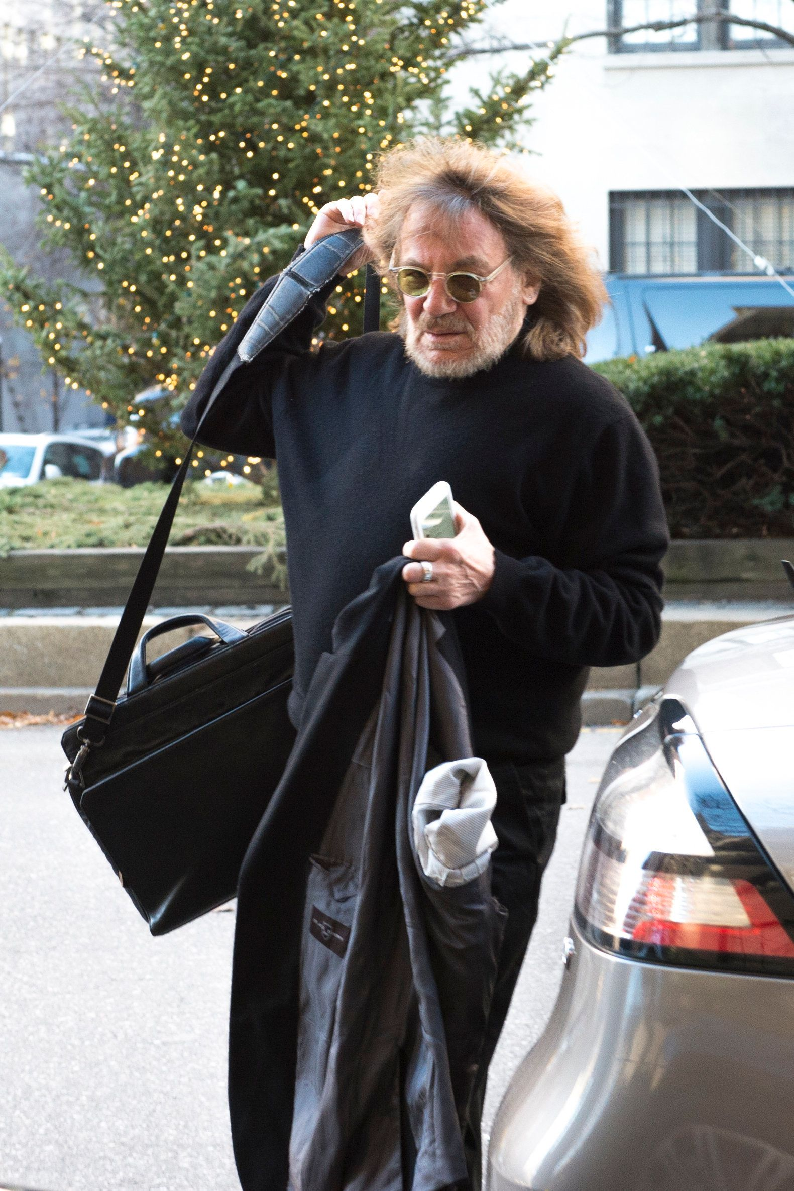 Dr. Harold Bornstein,  personal physician to Donald Trump arrives at his office at 101 East 78th street on Tuesday morning, December 15, 2015. (Photo by Joe Marino/NY Daily News via Getty Images)