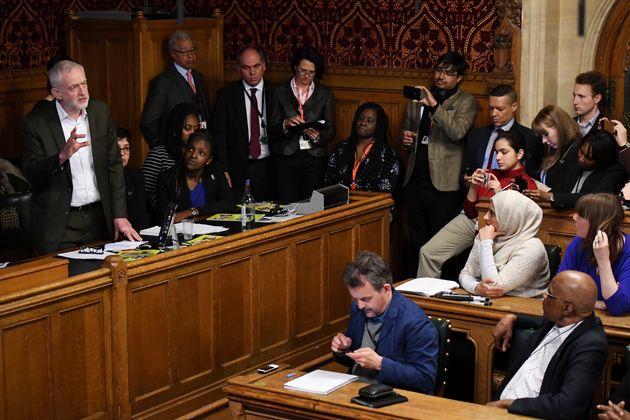 Jeremy Corbyn addresses the APPG on race
