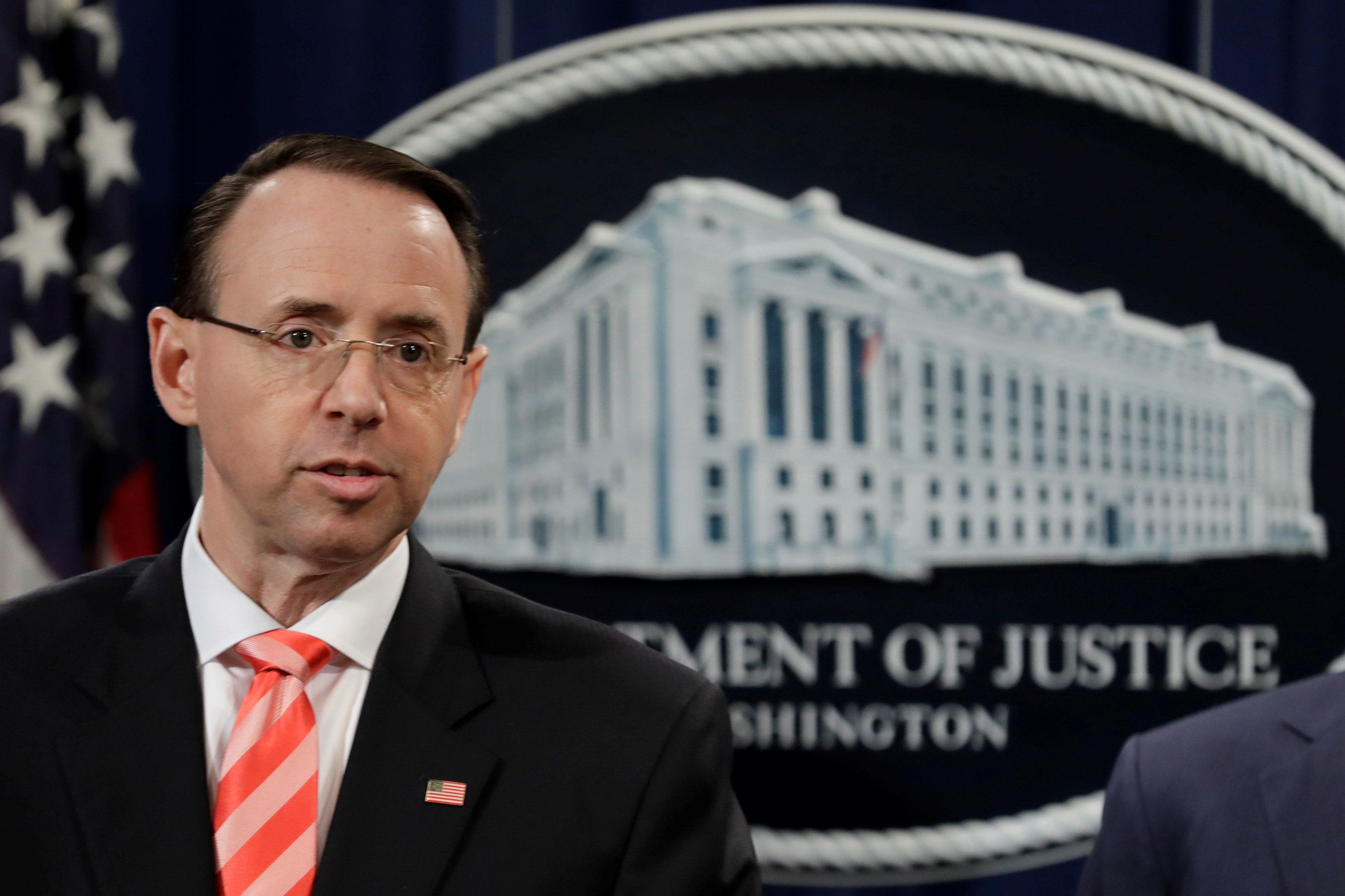 Rod Rosenstein Doesn't Seem Worried By GOP Impeachment Threat