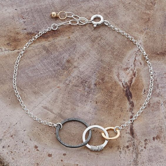 """Get it at <a href=""""https://www.uncommongoods.com/product/past-present-future-bracelet"""" target=""""_blank"""">Uncommon Goods</a>."""