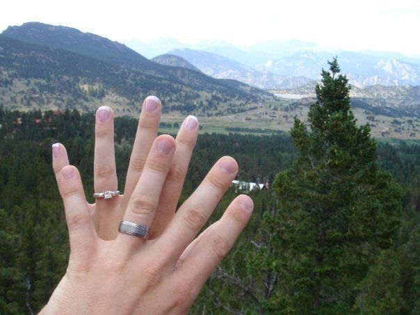The Averys took this ring photo together right after they got