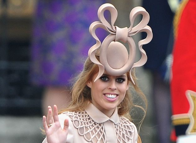 Princess Beatrice of York wore a now iconic fascinator at the wedding ofthe Duke and Duchess of