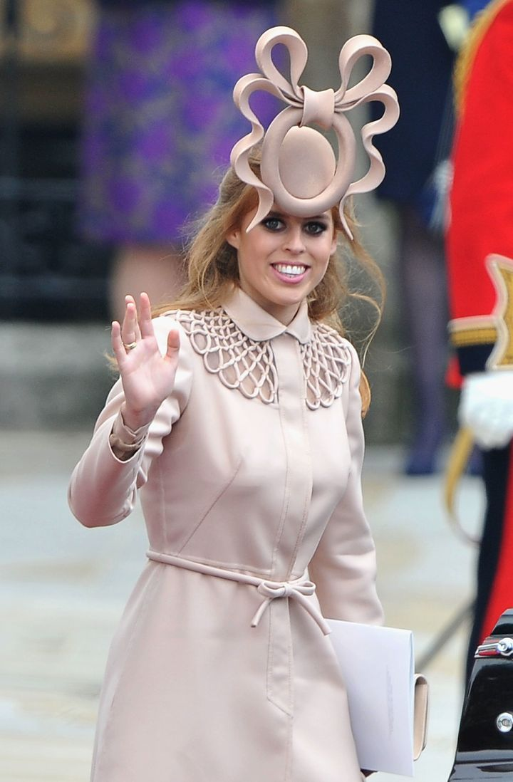 Princess Beatrice of York wore a now iconic fascinator at the wedding of the Duke and Duchess of Cambridge.