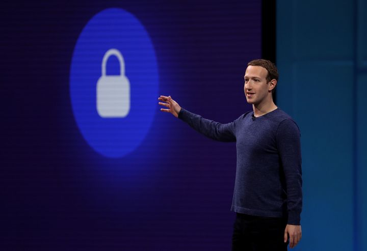 Facebook CEO Mark Zuckerberg speaks during the F8 Facebook Developers conference on May 1, in San Jose, Calif.