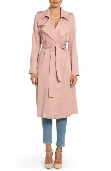 "Get it <a href=""https://shop.nordstrom.com/s/badgley-mischka-faux-leather-trim-long-trench-coat/4597935?origin=category-perso"