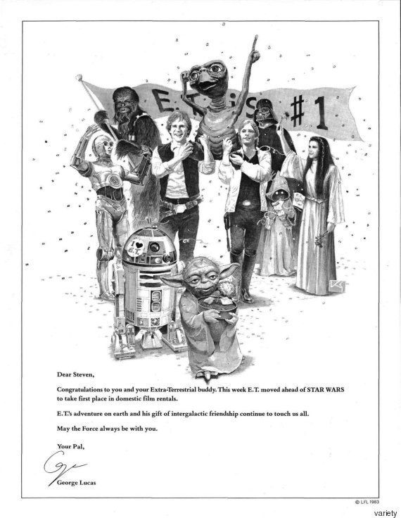 스필버그의 'E.T'가 극장가를 휩쓸었을 때, 조지 루카스는 또 이런 광고를