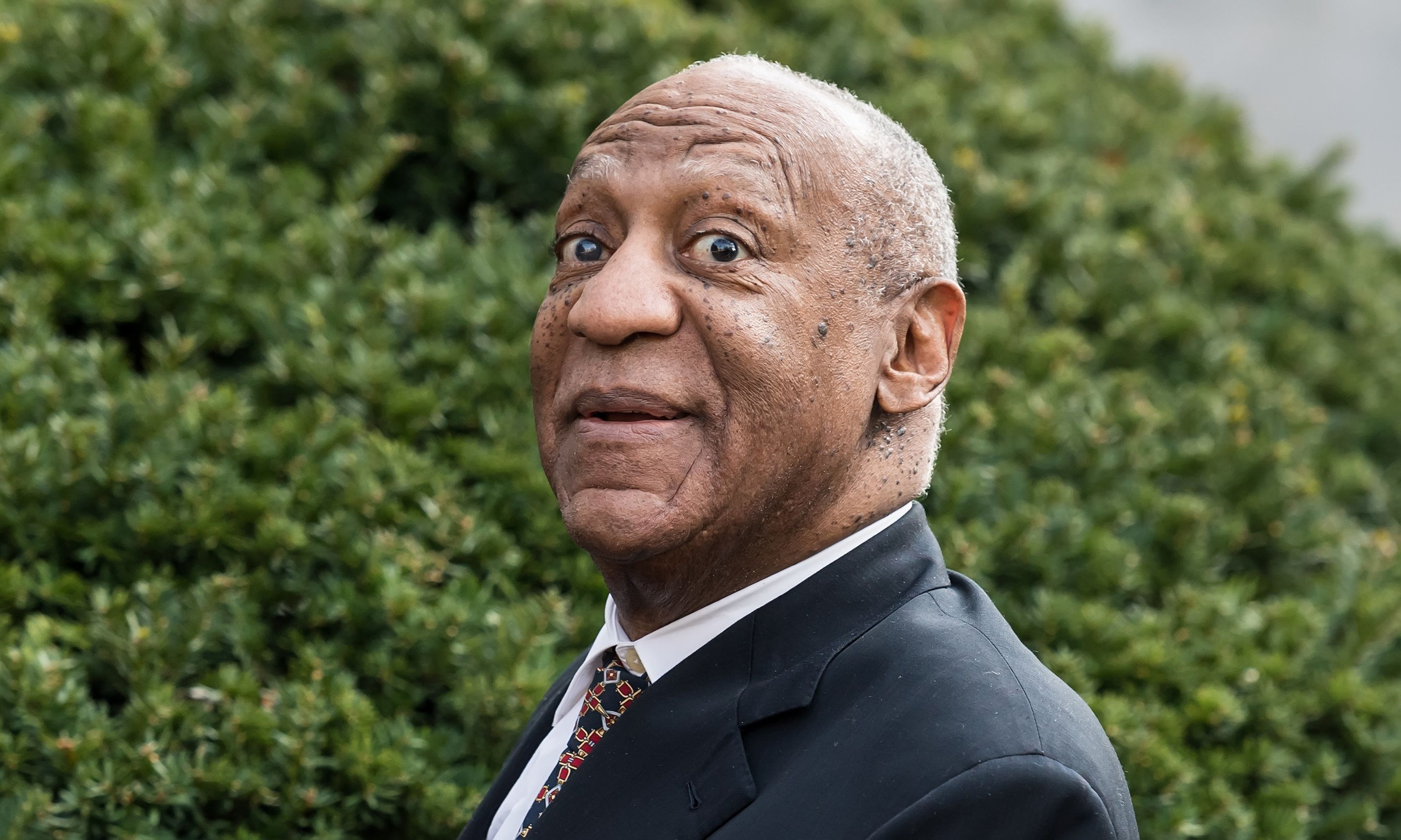 NORRISTOWN, PA - APRIL 13:  Actor/ stand-up comedian Bill Cosby leaving the Montgomery County Courthouse for the fifth day of his retrial for sexual assault charges on April 13, 2018 in Norristown, Pennsylvania. A former Temple University employee alleges that the entertainer drugged and molested her in 2004 at his home in suburban Philadelphia. More than 40 women have accused the 80 year old entertainer of sexual assault.  (Photo by Gilbert Carrasquillo/Getty Images)