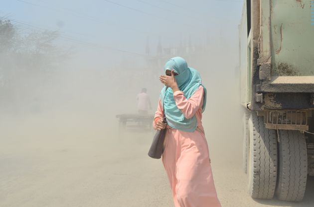 Dust pollution is seen in Dhaka, Bangladesh, on April 2. More than 90 percent of air pollution-related...