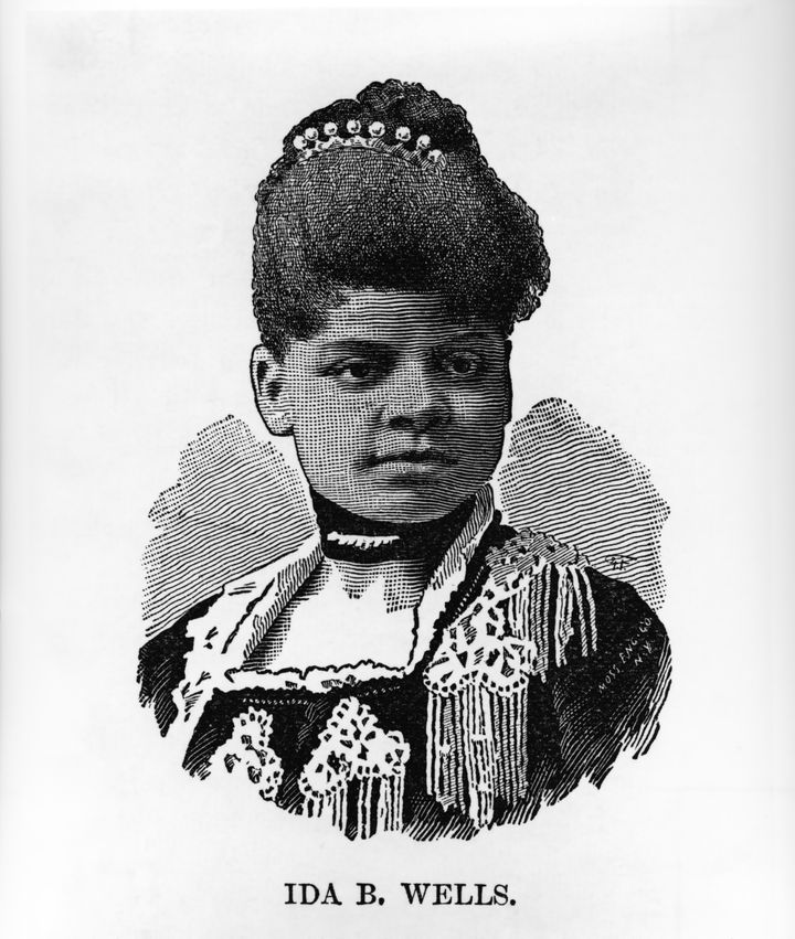Illustration of Ida B. Wells, circa 1892.