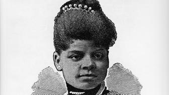 Illustration of Ida B. Wells, circa 1892. (Photo by Fotosearch/Getty Images).