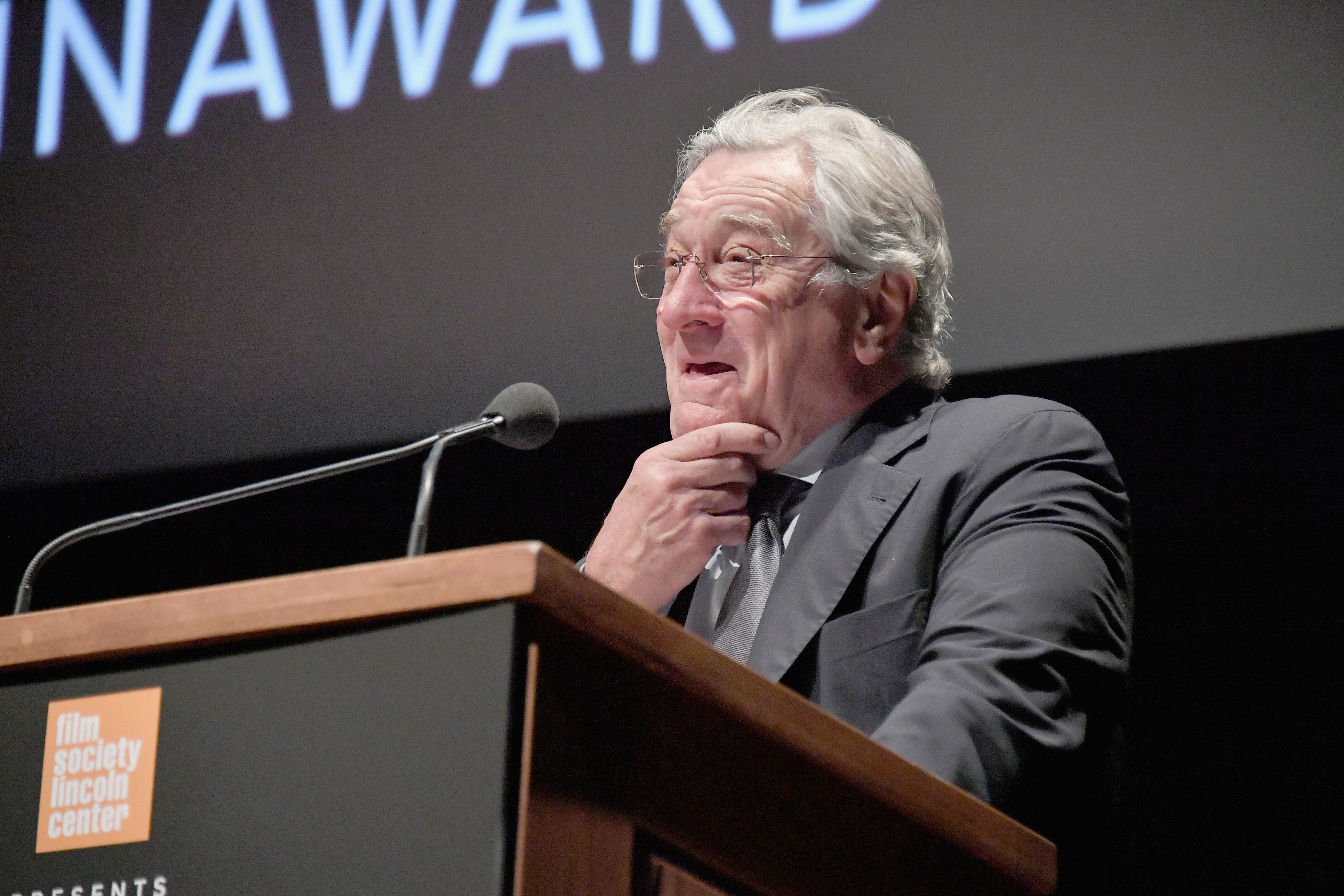 "Robert De Niro said ""the bullies and the liars are still intimidated by the strength and the truth."""