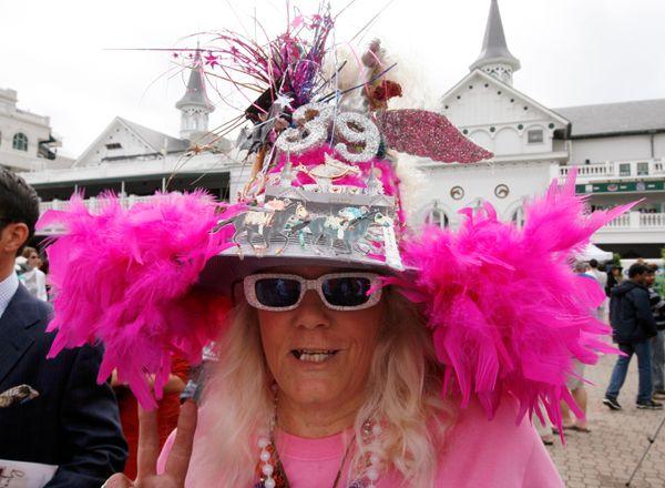 A race fan on May 3, 2008.