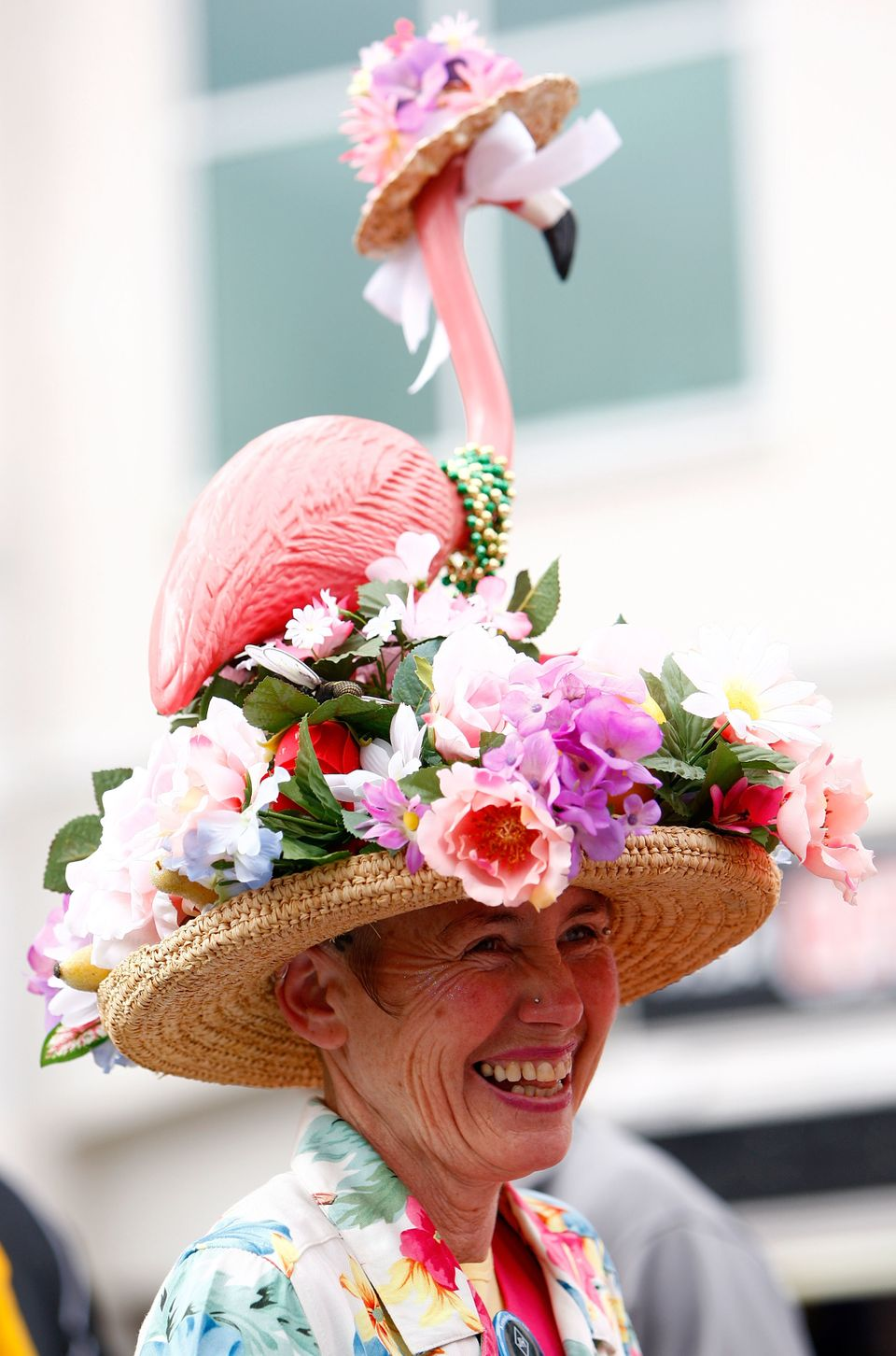 A race fan at the derby at Churchill Downs on May 3, 2008.