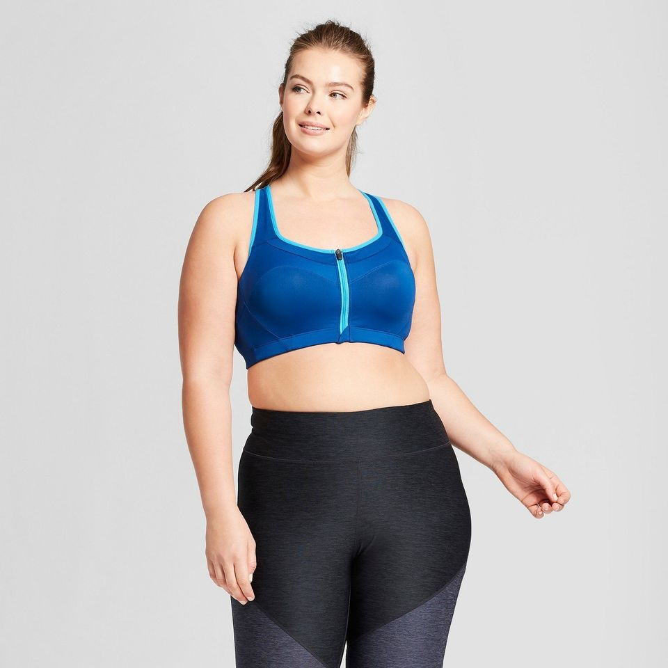 48746e1745e20 Plus-Sizes Power Shape MAX Support Front-Close Sports Bra from Target