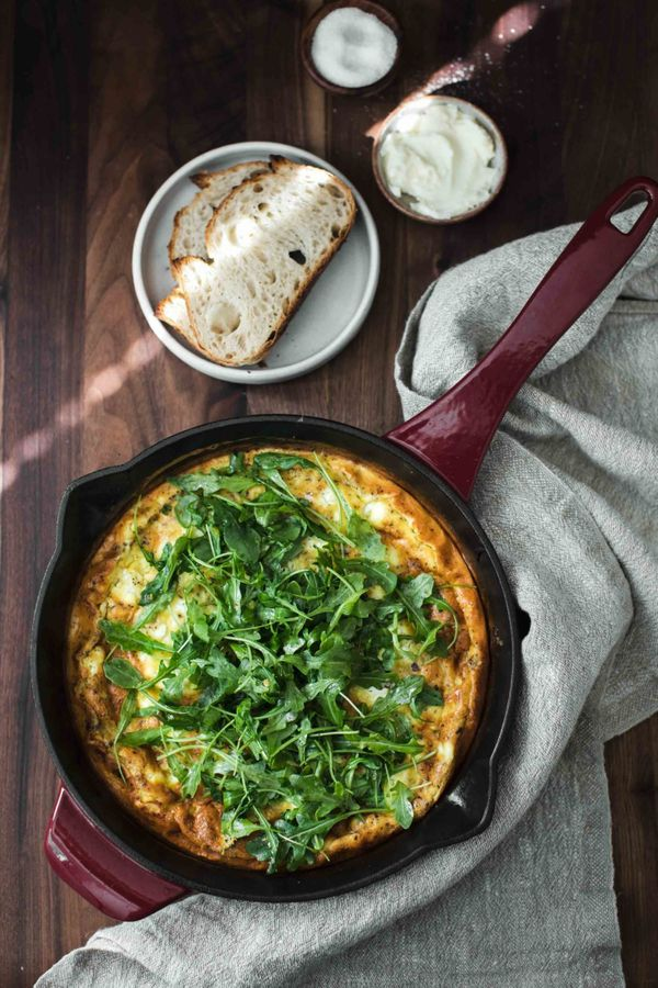 "<strong>Get the <a href=""https://naturallyella.com/onion-frittata/"" target=""_blank"">Onion Frittata</a> recipe from Naturally"