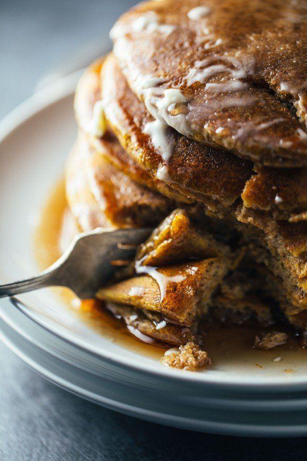 """<strong>Get the <a href=""""https://pinchofyum.com/simple-cinnamon-pumpkin-pancakes"""" target=""""_blank"""">Simple Cinnamon Pumpkin Pan"""