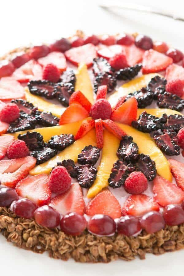"<strong>Get the <a href=""https://ohsweetbasil.com/breakfast-fruit-and-yogurt-pizza-recipe/"" target=""_blank"">Breakfast Fruit A"