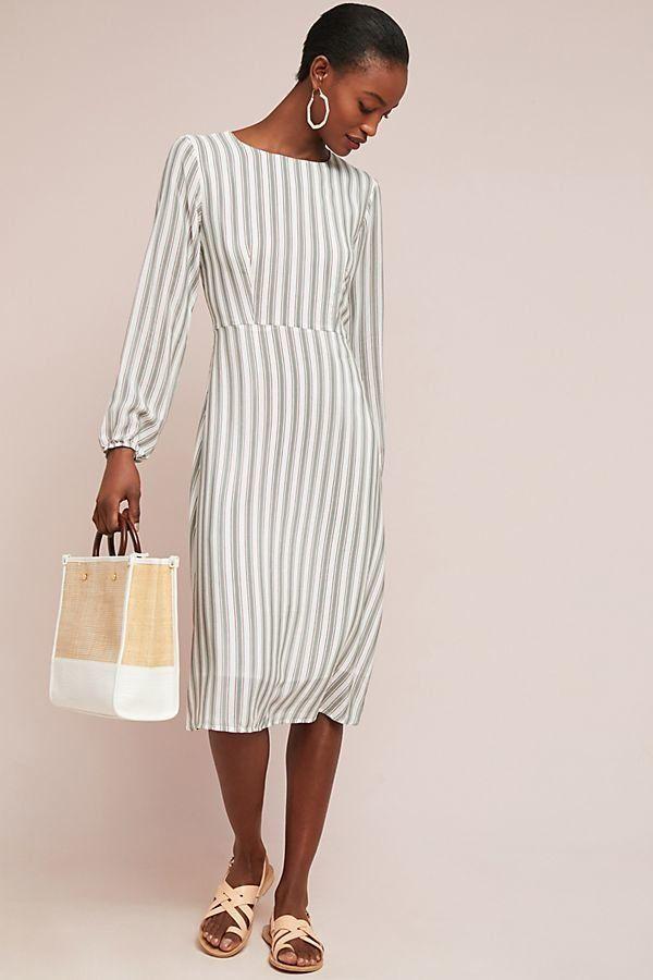 "Get it <a href=""https://www.anthropologie.com/shop/striped-silk-dress?category=dresses&color=018"" target=""_blank"">here</a"