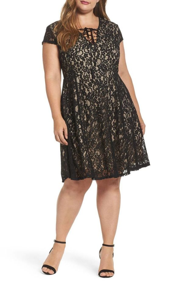 """Get it <a href=""""https://shop.nordstrom.com/s/soprano-tie-front-lace-dress/4825551?origin=category-personalizedsort&fashio"""