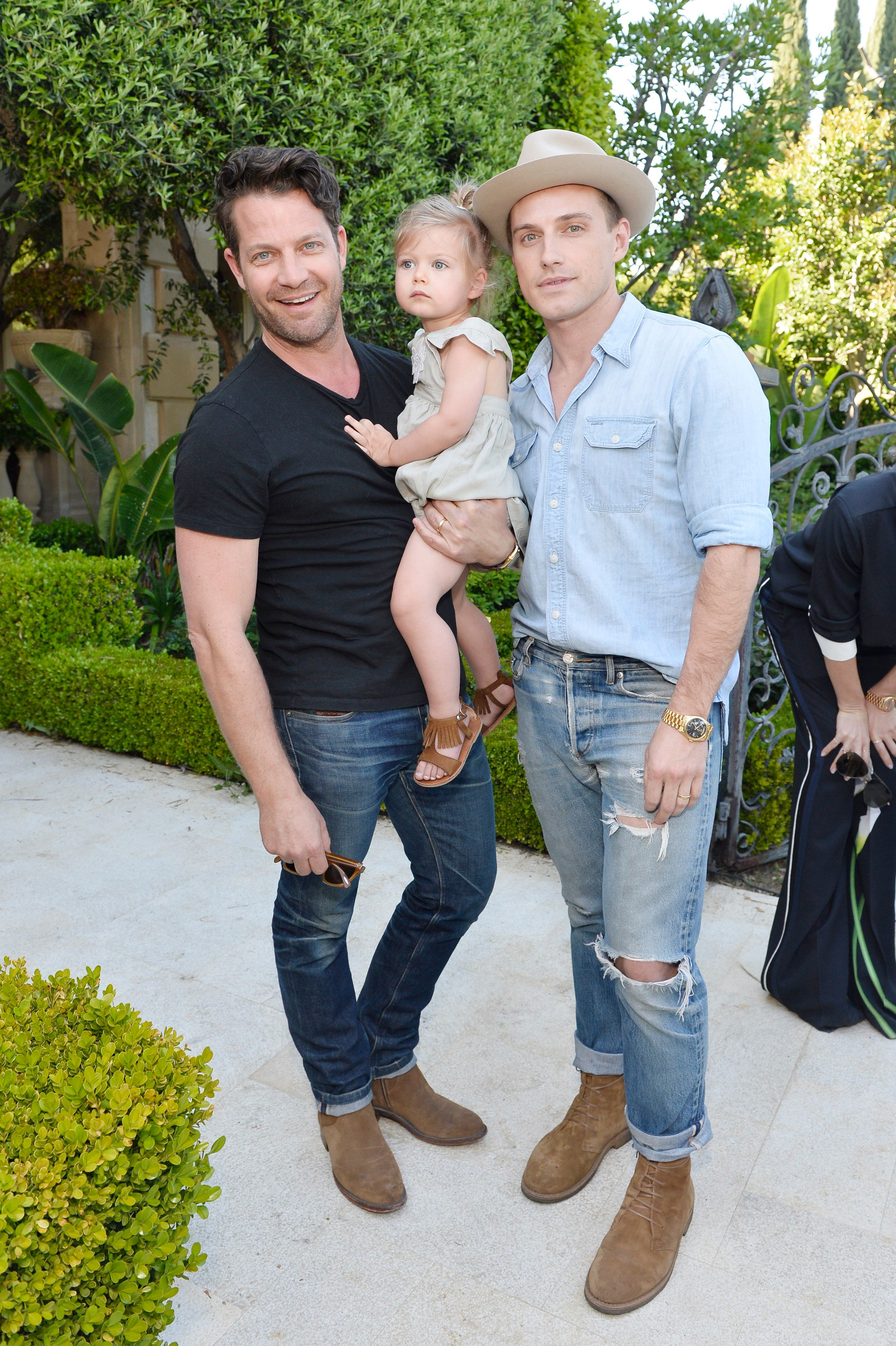 LOS ANGELES, CA - APRIL 01:  (L-R) Designer Nate Berkus, Poppy Brent-Berkus, and Jeremiah Brent attend the Victoria Beckham for Target Launch Event on April 1, 2017 in Los Angeles, California.  (Photo by Stefanie Keenan/ Getty Images for Target)