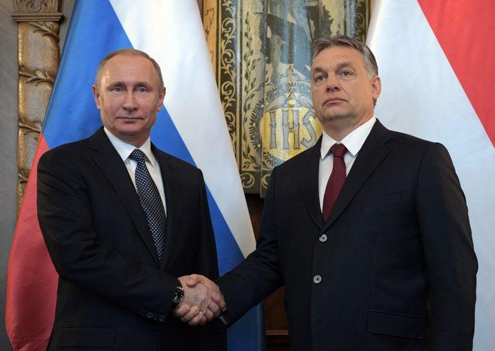 Hungarian Prime Minister Viktor Orban and Russian President Vladimir Putin meet in Budapest onFeb. 2, 2017.