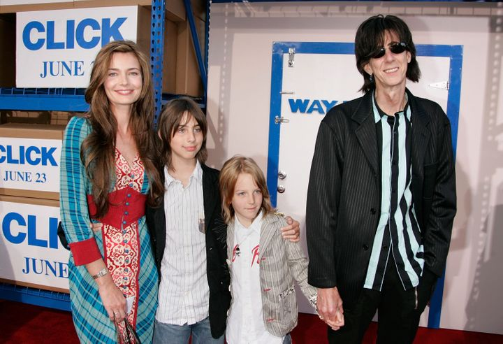 "The family attending the ""Click"" premiere in 2006."
