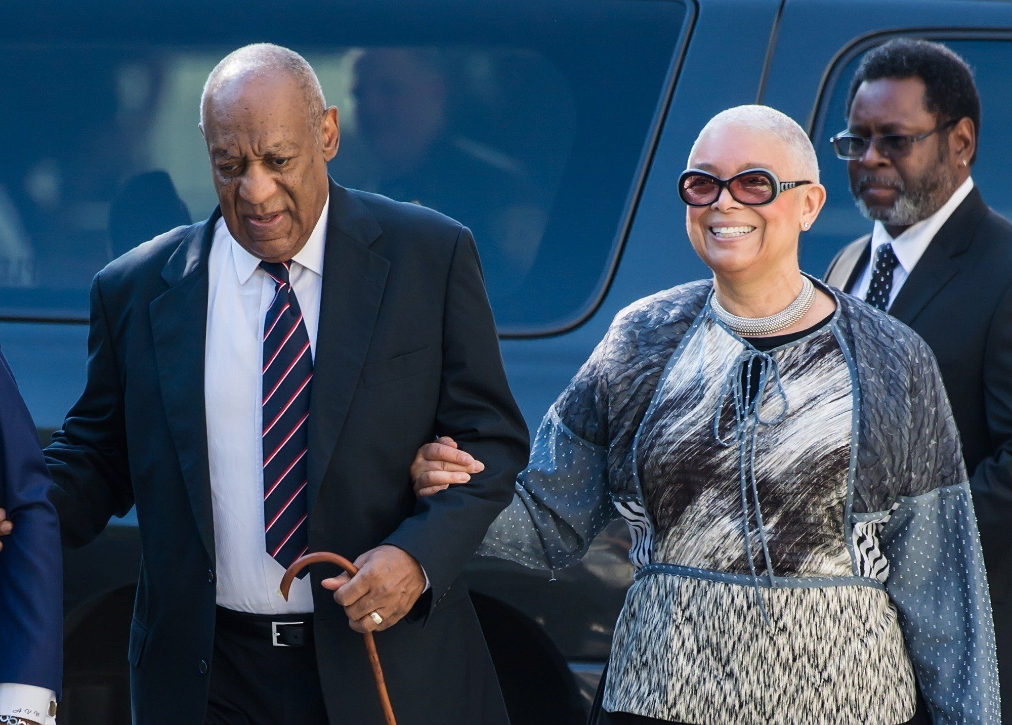 NORRISTOWN, PA - JUNE 12:  Actor Bill Cosby and wife Camille Cosby arrive at Bill Cosby Trial at Montgomery County Courthouse on June 12, 2017 in Norristown, Pennsylvania.  (Photo by Gilbert Carrasquillo/WireImage)